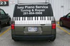 Houston Vinyl Vehicle Decals - Ivey Piano SUV