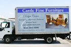 Houston Commercial Vehicle Graphics - Castle Furniture Van