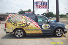 Houston Partial Vehicle Wraps - Fish & Wings SUV