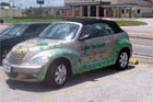 Houston Partial Vehicle Wraps - Lake Jackson PT Cruiser